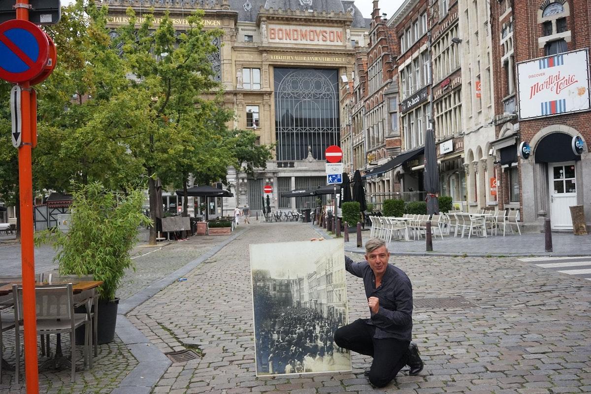 Jan Matthys voor Ons Huis. Foto: Hendrik Braet